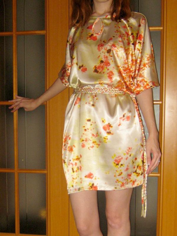 Сшить платье шёлковое 79